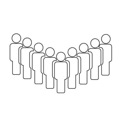 Mensen ondertekenen pictogram vectorillustratie