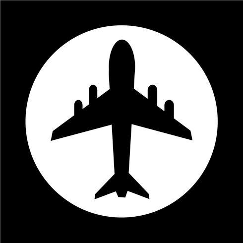 icona dell'aeroplano vettore