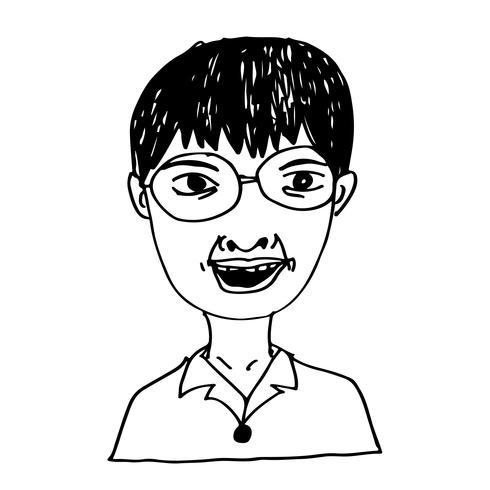 Menschen Gesicht Hand zeichnen