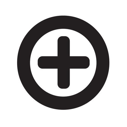 Plus icon vector illustration