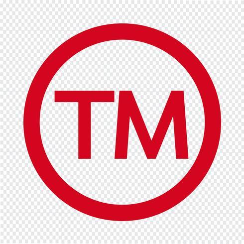 Símbolo de marca icono ilustración vectorial