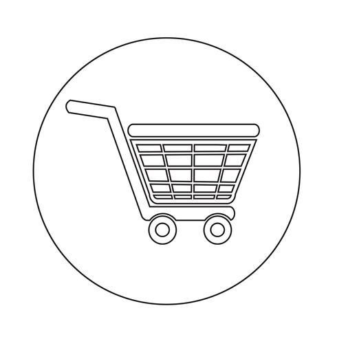 Icona dello shopping vettore