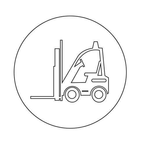 Icona del carrello elevatore vettore