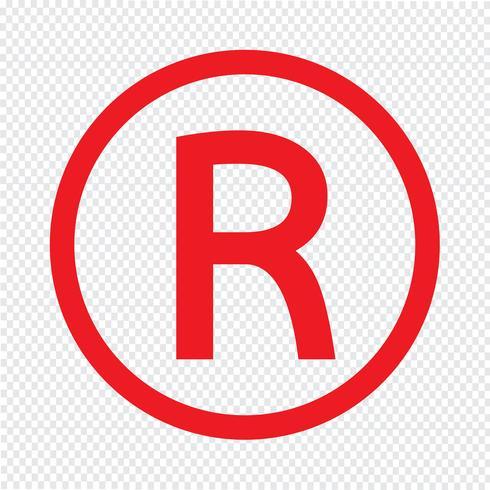 Ilustración de vector de icono de marca registrada