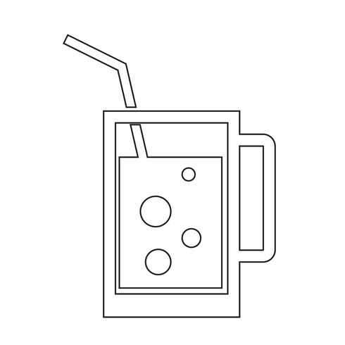Trinken Sie Symbol Vektor-Illustration