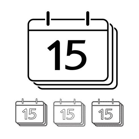 Calendar vector icon Illustration design