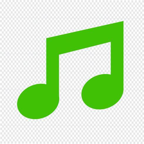 icône de la musique Illustration vectorielle vecteur