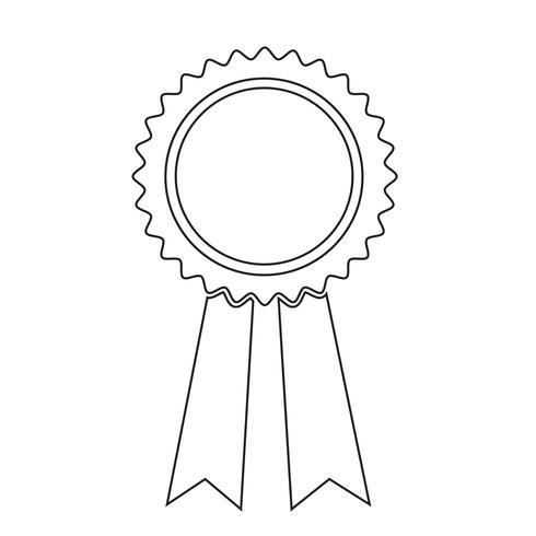 icono de cinta negra ilustración vectorial