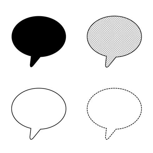Speech bubbles Icon vector