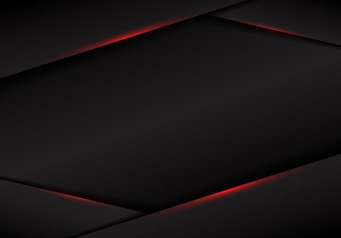 Abstrakt mall svart ramlayout metalliskt rött ljus på mörk bakgrund. modernt lyxigt futuristiskt teknikkoncept.