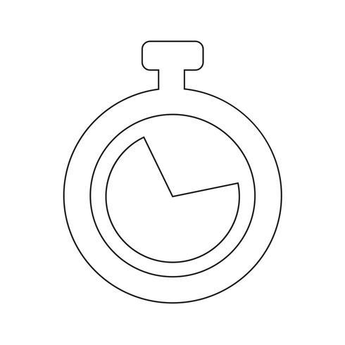 Ilustración de vector de icono de reloj