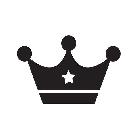 Couronne icône illustration vectorielle