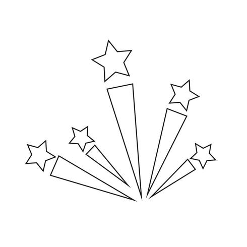 Ilustración de vector de icono de fuegos artificiales