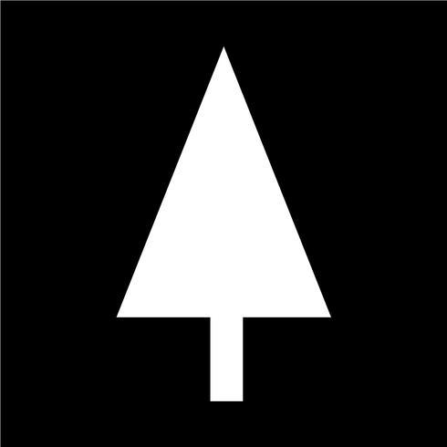 Ilustración de vector de icono de árbol de Navidad