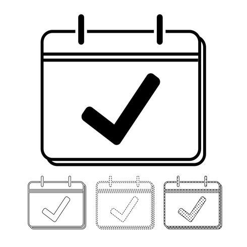Calendario vector icono ilustración diseño