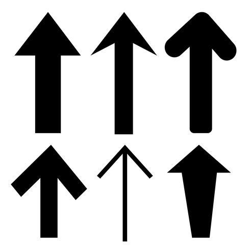 Teken zwarte pijlpictogram