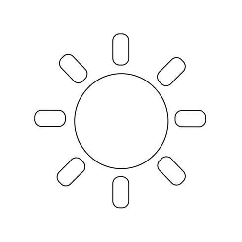 Illustration vectorielle de soleil icône vecteur