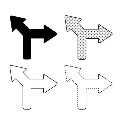 Icône illustration de vecteur flèche