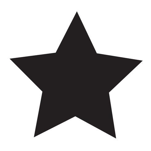 ster pictogram vectorillustratie
