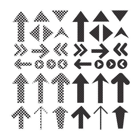 Sign black arrow icon