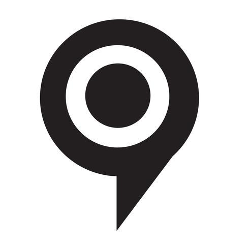 cible bulle icône illustration vectorielle