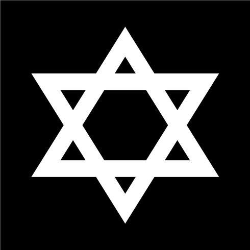 Ilustración de vector de icono de estrella David