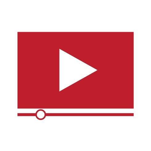 Video stream play icon vector
