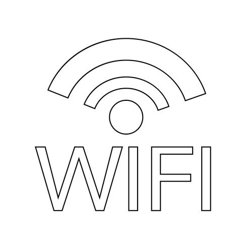 Ilustración de vector de icono de WIFI