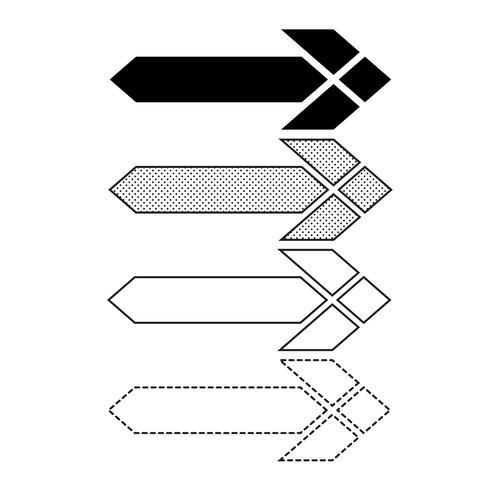 Vetorial, seta, ícone, ilustração