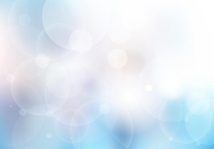 Abstrakt blå suddig vacker bakgrund med bokeh lampor. vektor