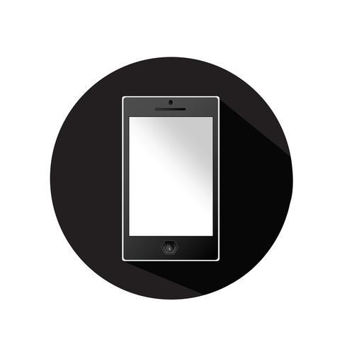 Icono de línea de teléfono móvil
