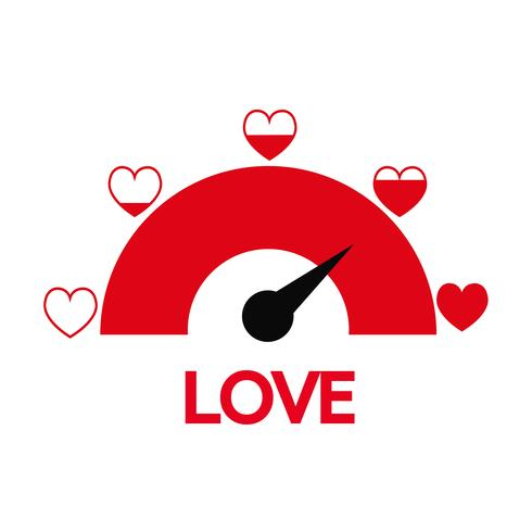 Valentinstagkartenidee Liebesmeßinstrument