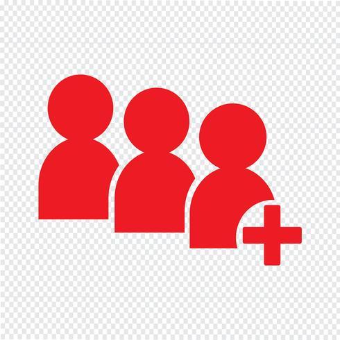 ilustração em vetor ícone pessoas