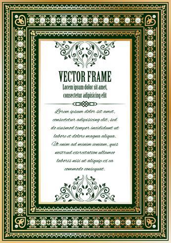 Luxury vintage ornate frame