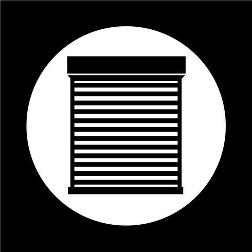 retrousser l'icône de la porte vecteur