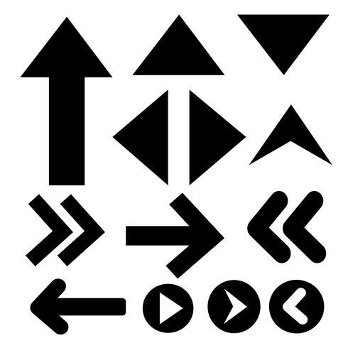Firmar icono de flecha negra vector