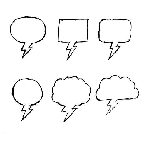 Sprechblase Hand gezeichnete Symbol