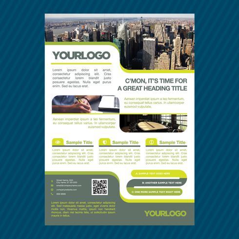 Modèle de Brochure de commerce professionnel vecteur