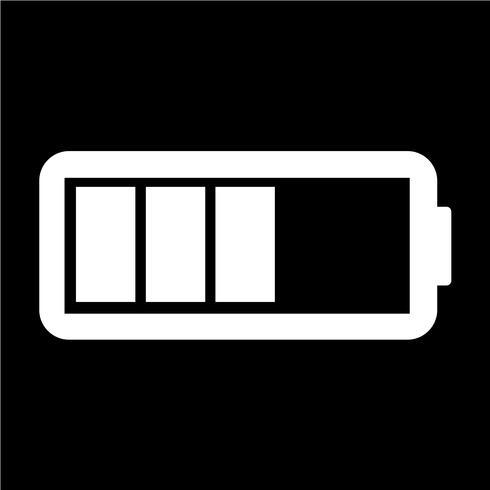 Illustrazione di vettore dell'icona della batteria