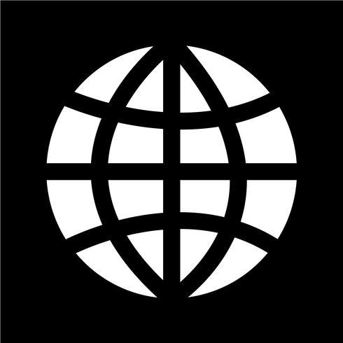 Ilustración de vector de icono de tierra globo