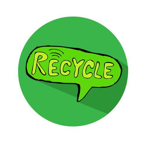 Icono de signo de reciclaje vector