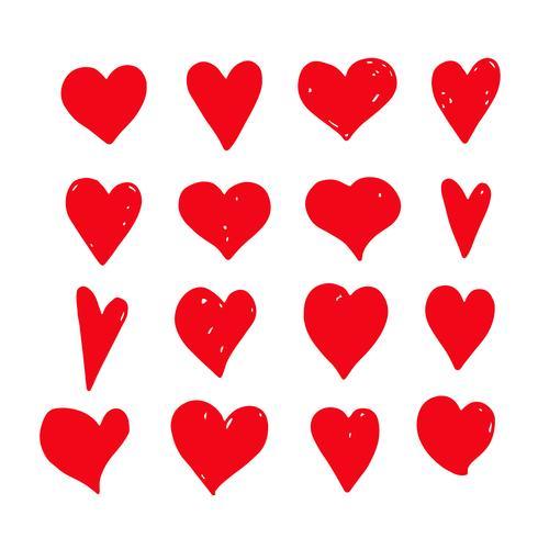 Hand zeichnen Herz-Symbol
