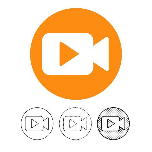 ícone da câmera de vídeo