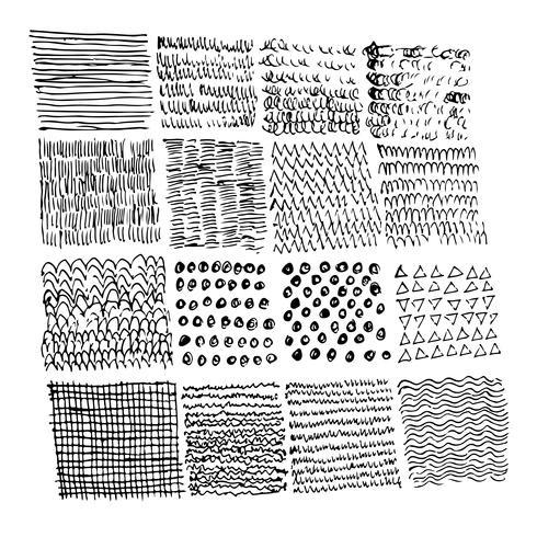 Hand getrokken doodle schets lijn