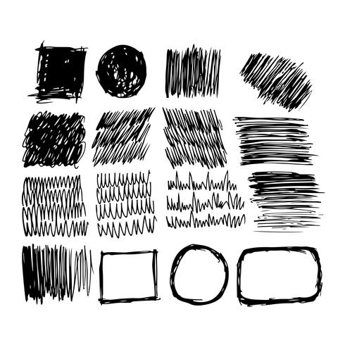 Linea di schizzo di inchiostro disegnato a mano