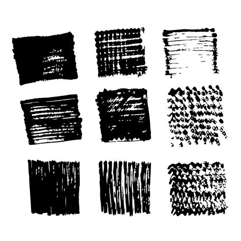 Vector hand drawn brush stroke ink sketch line