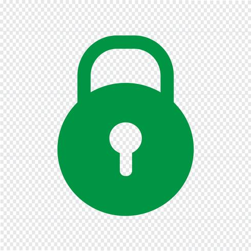 Lock icon vector illustration