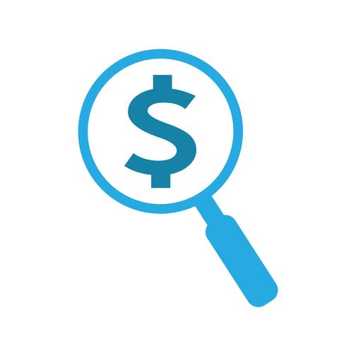 Icono de signo de dólar de dinero