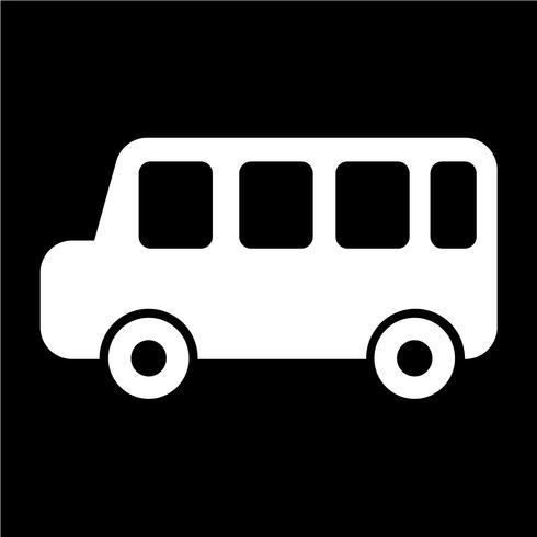 Ilustración de vector de icono de coche