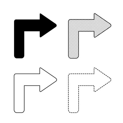 Vector arrow icon illustration